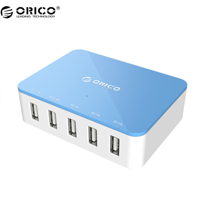 ORICO CSA-5U 5 Port With Power Adapter Micro USB Desktop Smart Charger For Phone/Pad/ iphone 7/6s6 - Blue