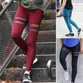 Women Casual Leggings Sexy Hollow Out Out Wear Exercise Clothing  Gym Leggings Fitness Athletic Slim Pants