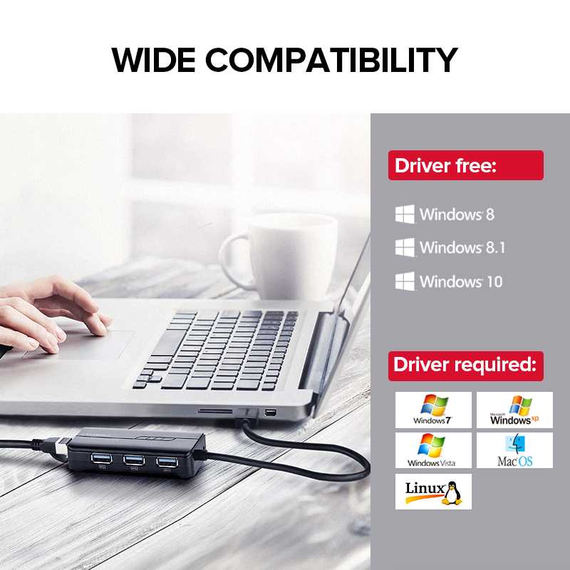 Ugreen USB Ethernet USB 3.0 2.0 naar RJ45 HUB voor Xiaomi Mi Box 3 / - Netwerkapparatuur - Foto 5