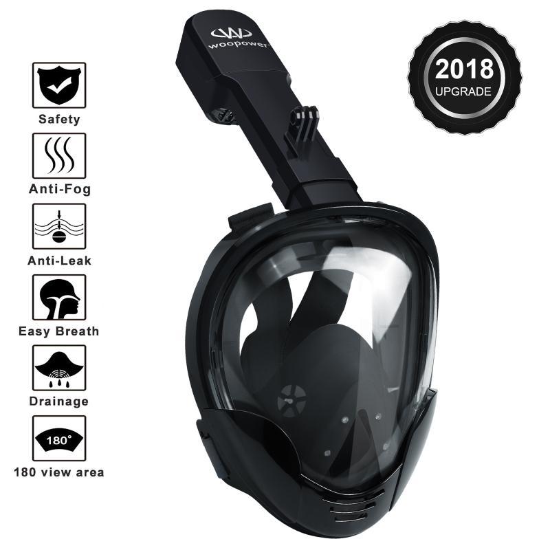 Professionnel Sous-Marine Plongée masque de plongée Plein masque de plongée en apnée M8018 pour Gopro Mouvement Caméra Pour Xiaomi Yi pour SJ4000 Nouveau - 2