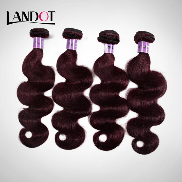 Aliexpress Buy Burgundy Wine Red 99j Peruvian Body Wave Virgin