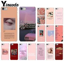 Yinuoda Pink Aesthetics songs lyrics Aesthetic Silicone TPU Phone Cover for iPhone X XS MAX  6 6s 7 7plus 8 8Plus 5 5S SE XR