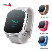Sensible Child Protected OLED Watch SOS Name GPS WIFI Location Finder Tracker for Little one Elder Anti-Misplaced Distant Monitor Child Wristwatch T58