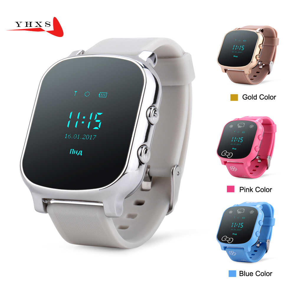 Smart Kid Safe OLED Watch SOS Call GPS WIFI Location Finder Tracker for Child Elder Anti-Lost Remote Monitor Baby Wristwatch T58 wireless service call bell system popular in restaurant ce passed 433 92mhz full equipment watch pager 1 watch 7 call button