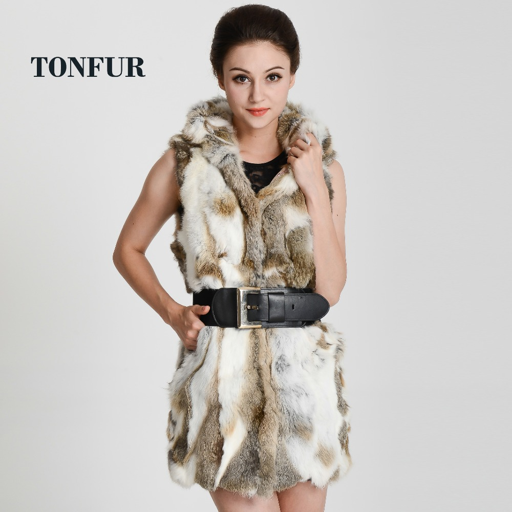 real rex rabbit fur vest with hooded women's slim rex rabbit fur coat winter fur jacket Free shipping  THP272-in Real Fur from Women's Clothing    1