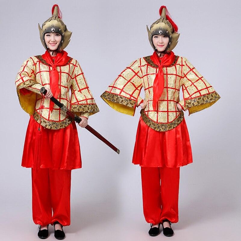 Costume ancien chinois armure généraux maréchal Mulan dynastie soldat costumes pour 155-185 cm