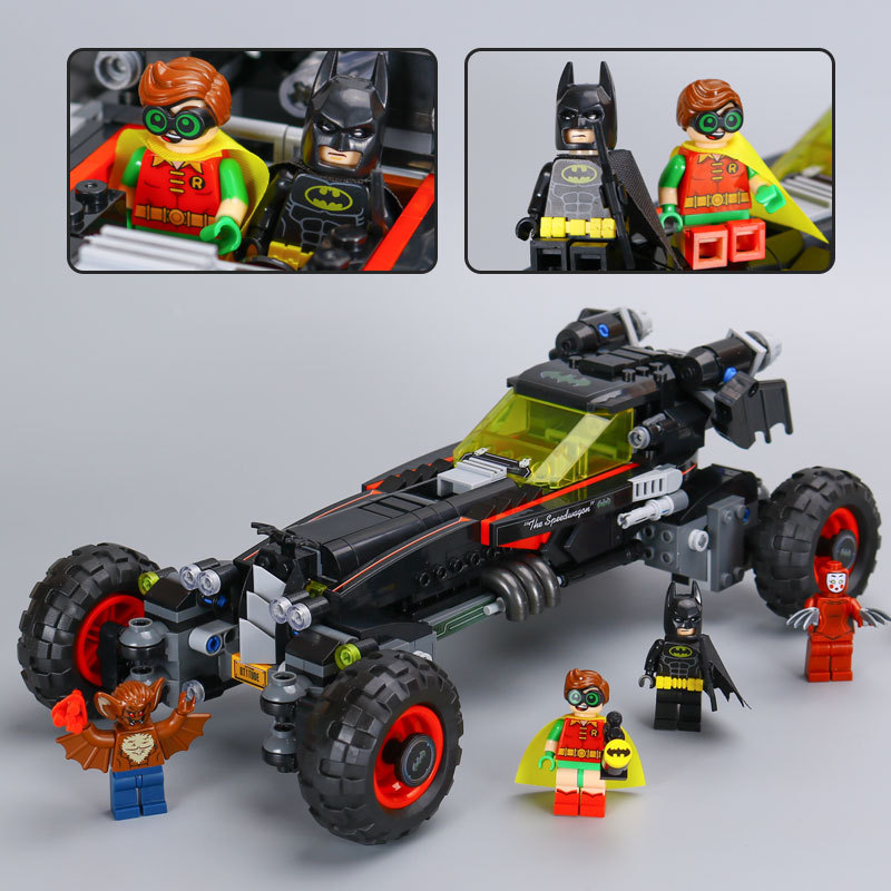 mylb New 559 Pcs Série de films Superhero Véritable Batman Robbin`s Mobile Ensemble Building Blocks Briques Jouets expédition de baisse