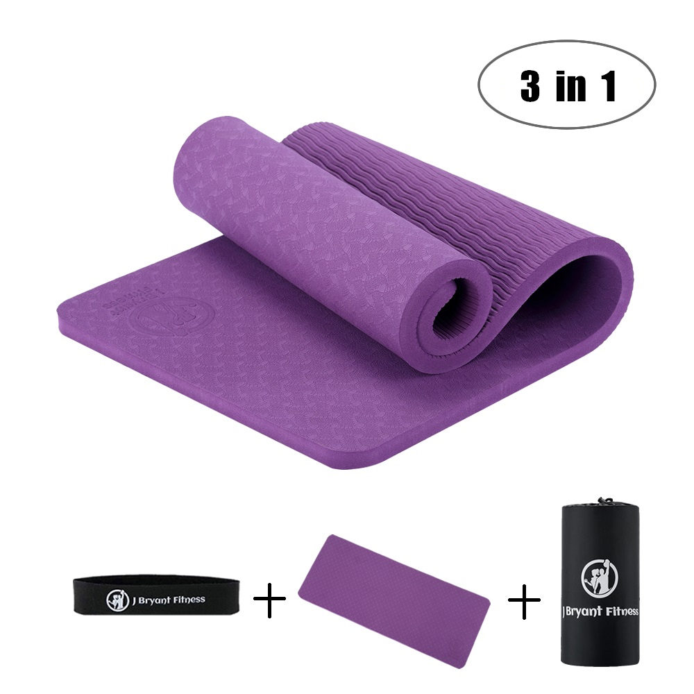 3 in 1 TPE <font><b>Yoga</b></font> Knee Pads High Density Non Slip Thick 10 mm Knees Wrists and Elbows Pad for <font><b>Yoga</b></font> Pilates Ab Wheel Floor Exercise