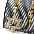 New arrival Judaism symbol cz imitated diamond necklace Solomon seal hexagram Star of David pendant men hip-hop dance jewelry