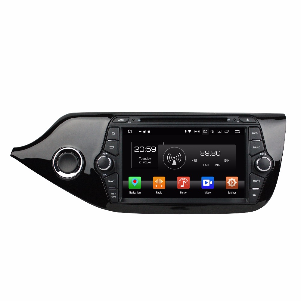 KLYDE 8 2 Din 8 Core Android 8.0 Car DVD Player For 32GB KIA CEED 2014 Car Audio 1024*600 Car Multimedia Player