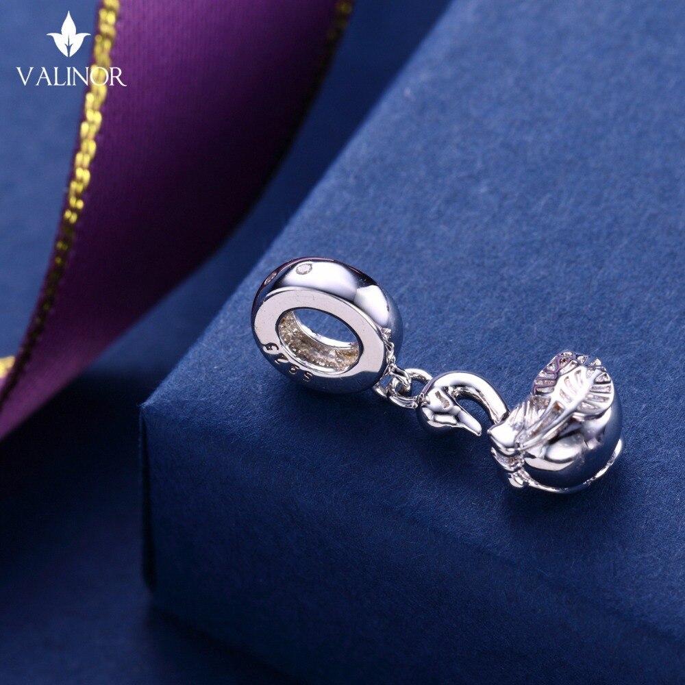 Video! Labod obesek iz srebra 925 kroglice s šarlingom se prilega - Modni nakit - Fotografija 3
