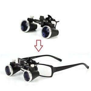 Image 5 - 2.5X/3.5Xกล้องส่องทางไกลขยายทันตกรรมLoupeการผ่าตัดผ่าตัดแว่นขยายLED LightการทำงานLoupeโคมไฟ