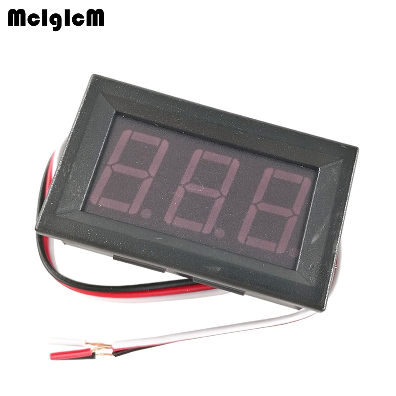 MCIGICM 50pcs 2.5-30V (OR 4.5-30V ) DC mini Car Motor Red LED Digital Voltmeter Volt Voltage Panel Meter Hot sale ...