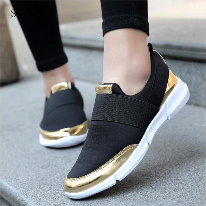 Dames Casual instappers Ademende Platte schoenen zomer Dames - Damesschoenen