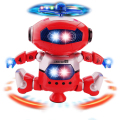 Electronic Robot Toy Dancer Robot Pet 360 Rotating Dance Musical Walk Lighten Birthday Gift Electronic Toy For Children Kids
