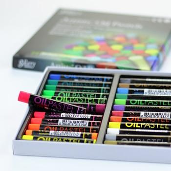 Mungyo 12/24 Farben Fluoreszierende Künstler Weiche Öl Pastell Trockenen Metallischen Buntstifte Für Zeichnung Schwere Farbe Kreiden Schreibwaren Büro Wachs
