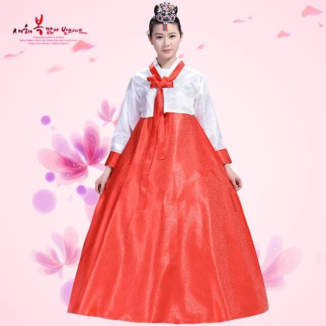 0eb2eb0dd placeholder Female Korean Dance Costume Minority Costume Korea Dance  Performance Costumes Hanbok Traditional Court Korean Traditional Dress