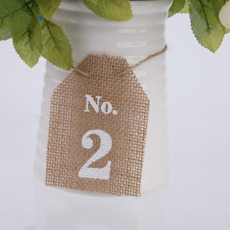 Rustic Jute Vintage Wedding Table Numbers 1 10 Hessian Burlap ...