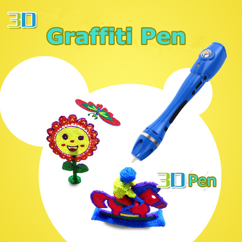 2018 New 3D Pens With Free Picture Album Best Children DIY Gift 3D Drawing Pen 3D Painting Pen Use 1.75mm  ABS / PLA filament 2016 new white high quality led 3d pen with free abs pla plastic filament 3d printing pen for kid gift 3d drawing and doodling
