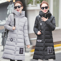 2016 Fashion Zipper Full The Long Winter Coat Female Down Parka Women 2016 New Slim Hooded Jacket Padded A047