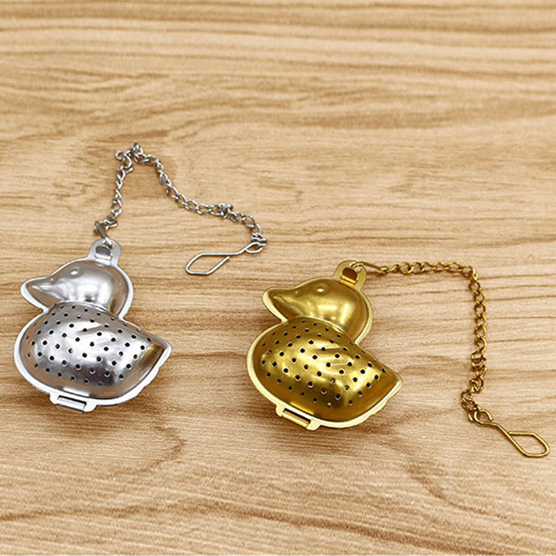 Stainless Steel Teapot Tea Strainer Duck Shape Mesh Tea Infuser Filter Reusable Tea Bag Spice Delicate Tea Tool Accessories