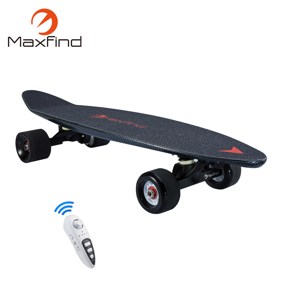 Maxfind 3.7 kg most portable hub motor remote electric skateboard with Samsung battery inside mini skateboard