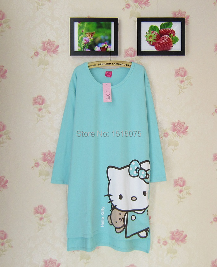 b7e2fdebf 2015 new hello kitty pure cotton carton onesie nightdress sexy lingerie for woman  pajamas night shirt nightgrown free shipping-in Pajama Sets from Underwear  ...