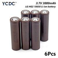 6x Rechargeable LG 18650 HG2 Lithium Battery 3.7V 3000mAh For Torch Headlamp for Laser Pen LED Flashlight Cell battery holder