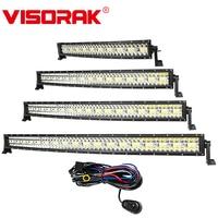 VISORAK 22 32 42 52 Inch Curved Offroad LED Light Bar Off road LED Bar For Car Boat 4WD 4x4 Trucks SUV ATV Vehicles LED Work Bar