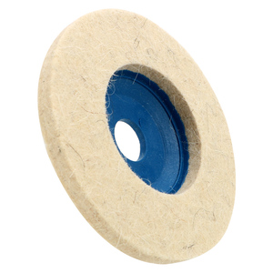 Image 4 - Leepee 10ピース/セットバフアングルグラインダーホイールフェルトウールホイール研磨ディスクパッドセット9.5センチメートルウール研磨パッド
