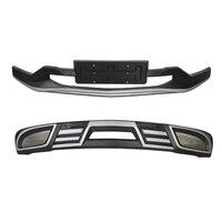 Jioyng Для Chevrolet EQUINOX 2017,2018 2019 Передний + задний бампер диффузор бамперы защита для губ противоскользящая пластина ABS 2 шт