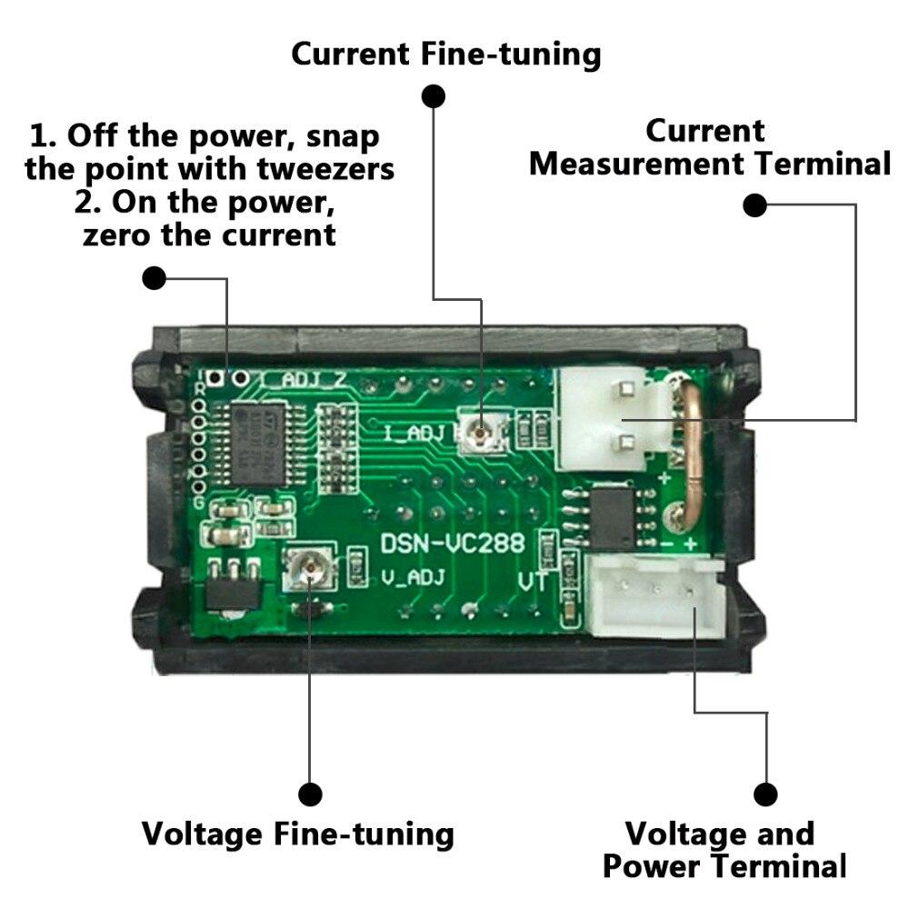 Профессиональный DC 100V 10A Вольтметр Амперметр синий + красный светодиодный амперметр двойной цифровой амперметр вольтметр датчик