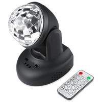 ZjRight IR Remote 6W LED Moving Head Sound Activated Stage Light With Built In Speaker MP3