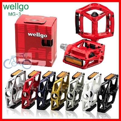 Léger forte haute qualité livraison gratuite Wellgo MG-3 MG3 pédales en magnésium pour pédales de vélo de route pédale de vélo vtt BMX DH plate-forme