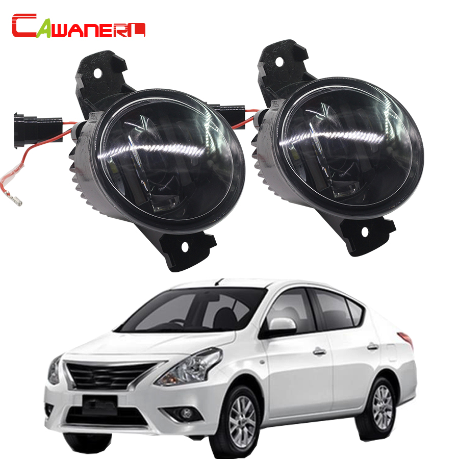 Cawanerl 1 Pair Car LED Light Source Fog Light DRL Daytime Running Lamp For 2001-2006 Nissan Almera 2 II Hatchback Saloon (N16) cawanerl 1 pair car light led fog lamp drl daytime running light white 12v for subaru trezia hatchback 1 3 1 4d 2011 onwards