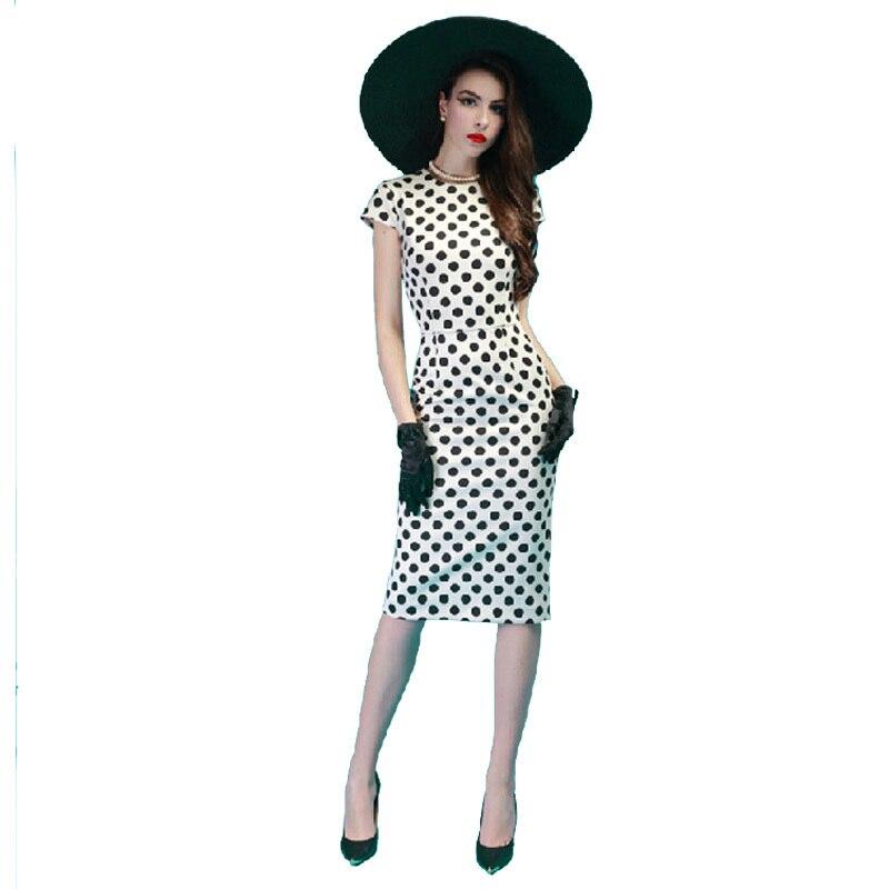 Nové módní dámské oblečení v létě roku 2019 Bílé elegantní tužkové šaty velikosti S M L XL XXL