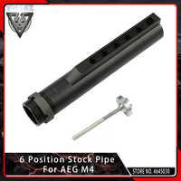 Tuyau de Stock VMASZ 6 positions pour Tube tampon Airsoft AEG M4/M16 avec boulon de fixation accessoires de chasse