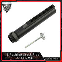 VMASZ 6 Position Stock Pipe for Airsoft AEG M4/M16 Buffer Tube with Fixing Bolt Hunting Accessories