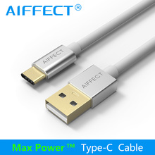 AIFFECT High Speed Type C Cable Type-C to Standard USB USB-C Male Data Charging Cord Line Silver