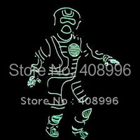 EL костюм из проводов для выступлений/сценического танца/костюм со светящейся надписью