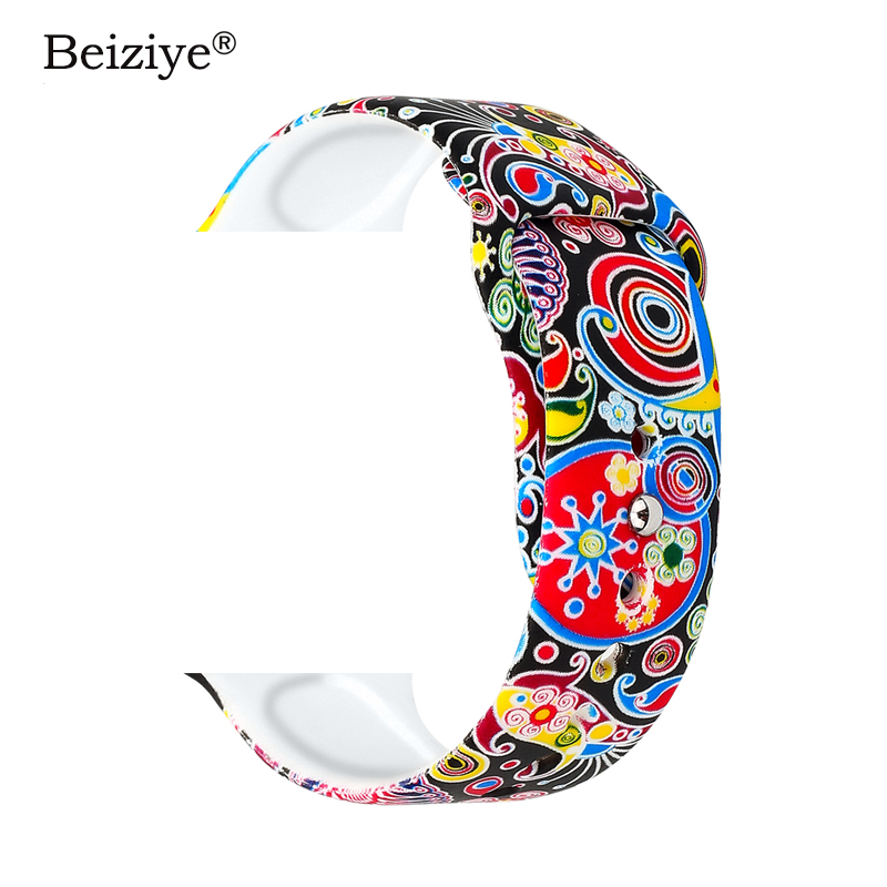 8 Colors Printed Silicone Band for Apple Watch 38mm 42mm 40mm 44mm Soft Silicone sport Strap Bands iWatch Series 4 3 2 bracelet8 Colors Printed Silicone Band for Apple Watch 38mm 42mm 40mm 44mm Soft Silicone sport Strap Bands iWatch Series 4 3 2 bracelet