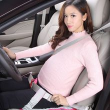 Pregnant Female Car Seat Pad Safety Belt Protecting Mom Belly Adjustable Strap Protector No pressure to Unborn Baby