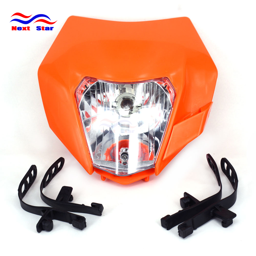 Luzes do farol da motocicleta universal para ktm exc exc xcw xcf xcfw sx sxs smr sx 125 250 350 450 500 505 520 530