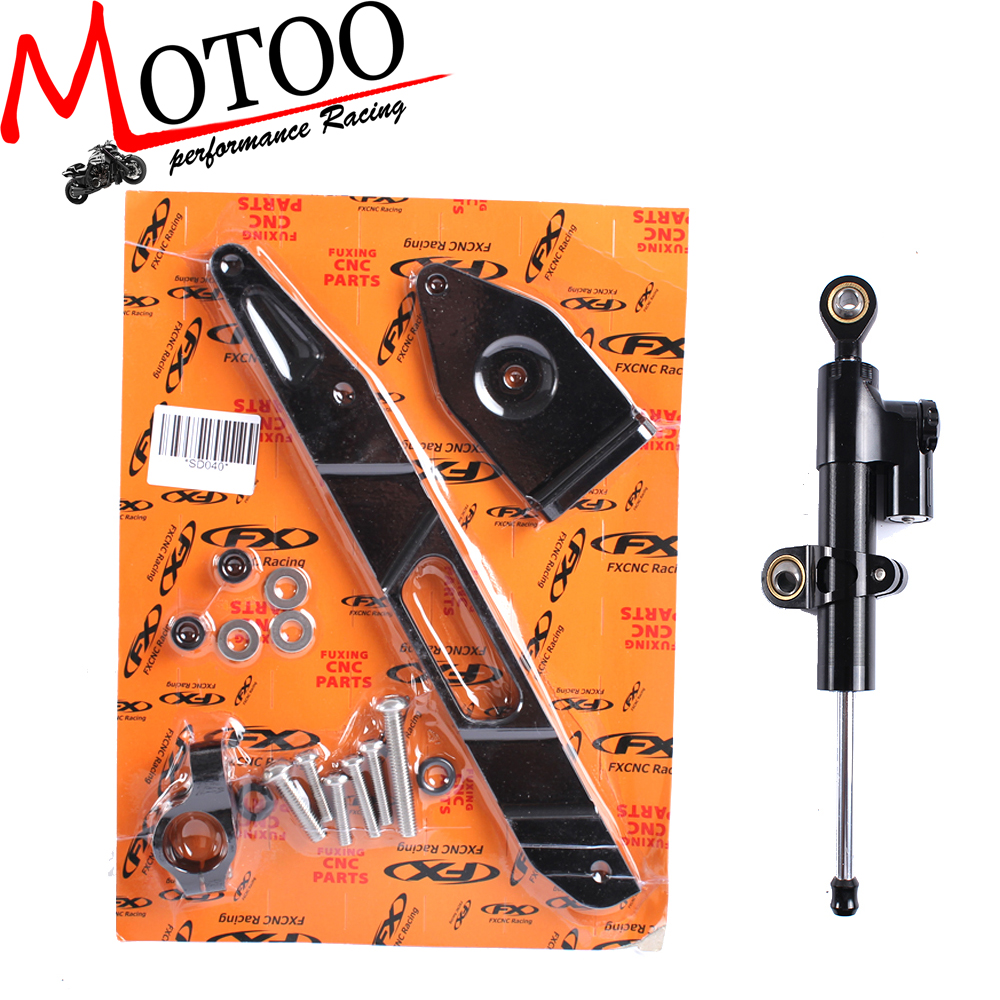 Motoo - CNC Steering Damper Complete Set for YAMAHA XJR1300 2002-2015 with bracket Motoo - CNC Steering Damper Complete Set for YAMAHA XJR1300 2002-2015 with bracket