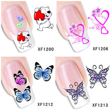 30 stijlen! Fashion Nails Art Manicure Decals Vlinder Ontwerp Water Transfer Stickers Voor Nagels Tips Beauty(China)