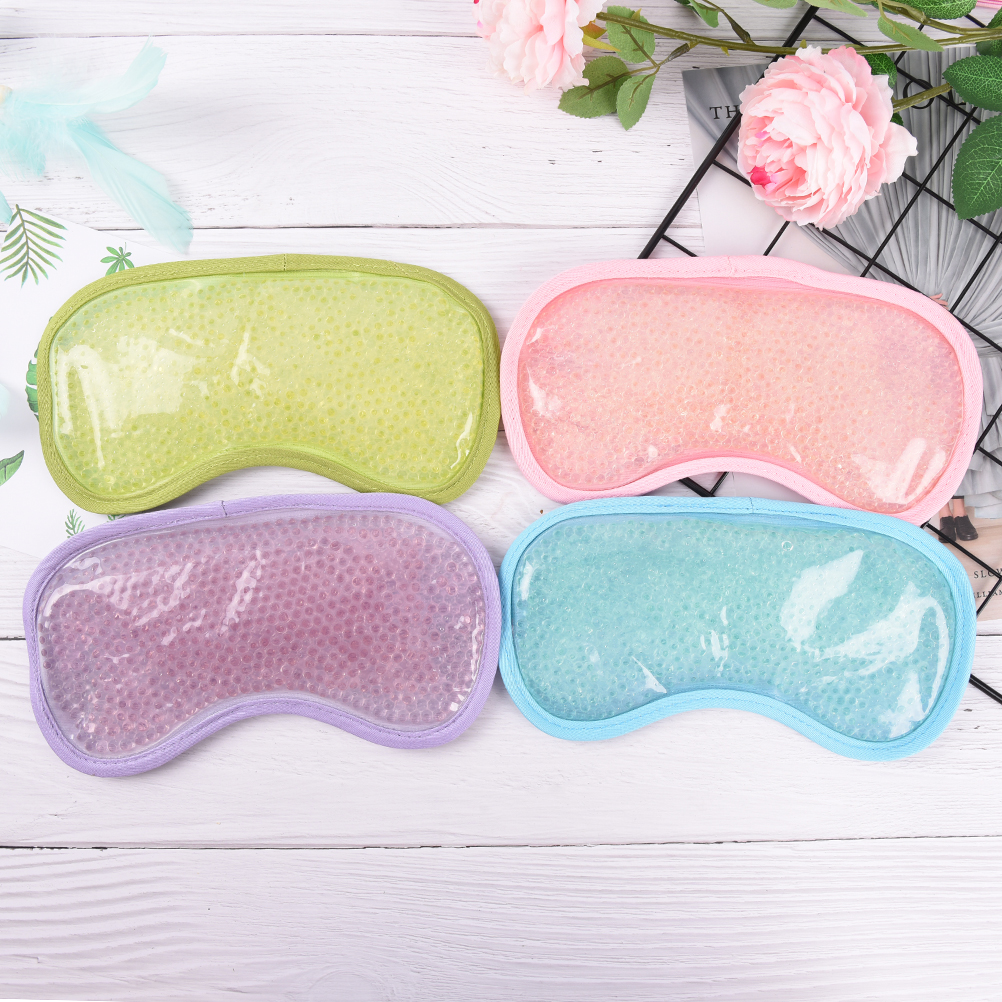 Gel Eye Mask Cold Pack Warm Hot Heat Ice Cool Moisturizing Soothing Tired Eyes Pad Masks Eye Care Tools 4 Colors
