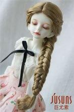 JD284 – perruques de poupée en Mohair synthétique 1/4 doux à la mode, taille 7-8 pouces, accessoires de poupée à tresses longues