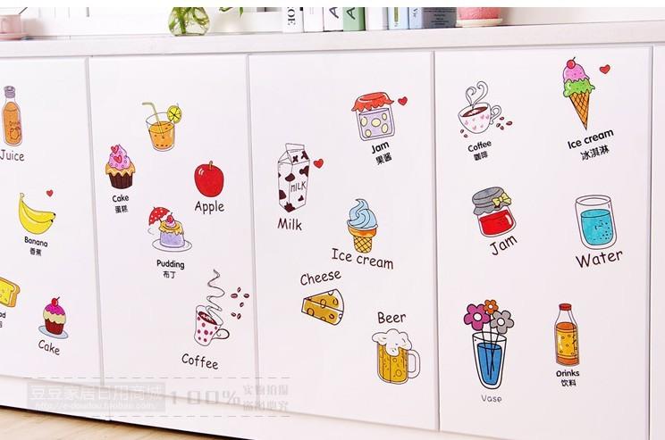 HTB1pRA QVXXXXXVapXXq6xXFXXXM - Cartoon Kitchen Refrigerator Door Sticker-Free Shipping