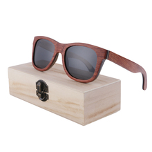 BerWer Skateboard Wooden Sunglasses red Frame wood UV 400 Protection in Box