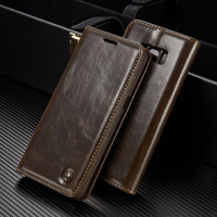 Luxury High Quality Leather Magnetic Auto Flip Wallet Stand Phone Case For Samsung Galaxy A3 2016